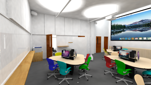architectural rendering of the Digital Learning Lab remodel